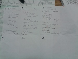My paper - filled out as I talked first period.