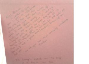 letter from kaitlyn